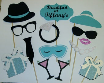 Breakfast at Tiffany's Photo Props / Glitter / Gifts / Drinks / Pearls / Engagement Party (2174D)