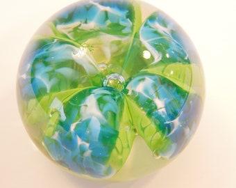 Light Blue Flower Paperweight