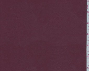 Berry Red Pleather, Fabric By The Yard