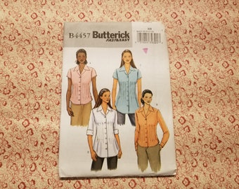 Butterick Fast & Easy B4457 Misses'/Misses' Petite Pin Tuck Shirt Sizes 8 10 12 14 presented by Donellensvintage