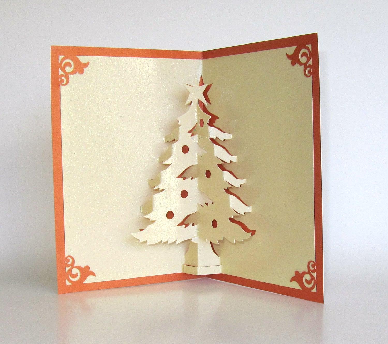 How To Make Christmas Tree Greeting Cards Cby Handmade Christmas