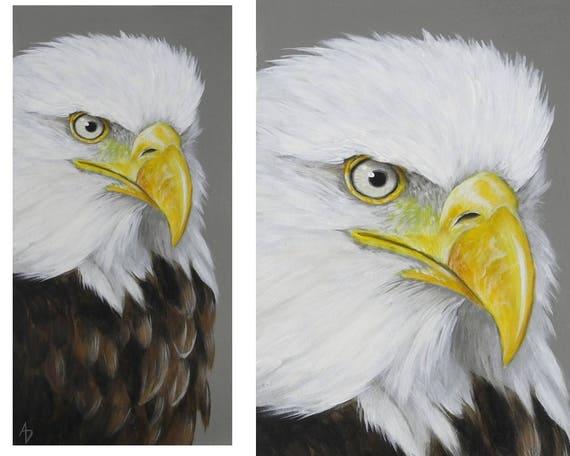 Bald Eagle Painting American National Symbol Bird Art