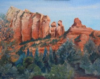 Sedona 9 Red Rock Original Oil Painting done plein air by Michael McGrath.