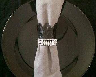 Black Tulip Napkin Ring