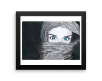 The Veiled Woman Framed poster