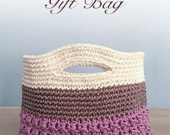 Crochet Pattern: Gift Bag (Huntley Gift Bag Crochet Pattern by Little Monkeys Crochet) PDF Crochet Gift Bag Pattern Instant Download