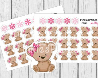 Bear Planner Stickers and Planner Die Cut PS475
