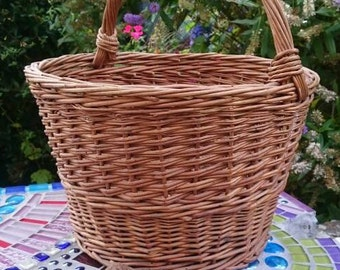French Country Grocery Basket, Vintage Shopping Basket, Rustic Farmhouse,