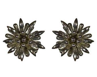 Jumbo Flower Clip On Earrings
