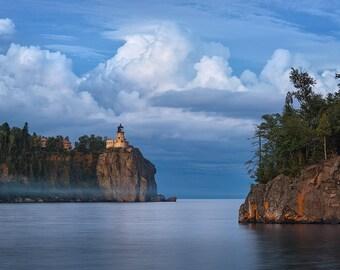 Split Rock Storm, Lighthouse, Duluth, Lake Superior, Nautical, North Shore, Minnesota, Two Harbors - Travel Photography, Print, Wall Art