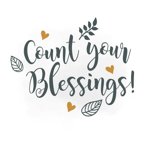 Quotes About Counting Your Blessings: Count Your Blessings ClipartReligious Quote Digital Cut
