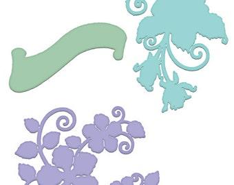 Heartfelt Creations Blushing Rose Swirls Die HCD1-7114