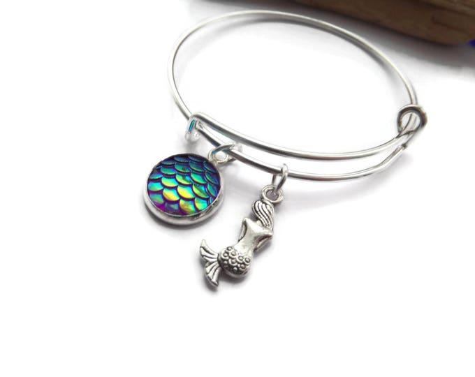 Mermaid bangle, mermaid bracelet, mermaid gift, mermaid party, mermaid favors, party bag favours, sea jewellery, sea gift, be a mermaid, Uk
