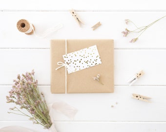 Gold Foil Dots Gift Tags