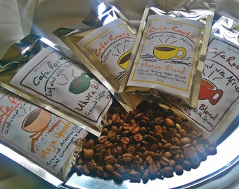 Coffee gift box SPECIALITY Selection 5 Pack 150g (5 x30g). Coffee Lover. Moka / Stove / Filter or Cafetiere. Freshly Roasted.