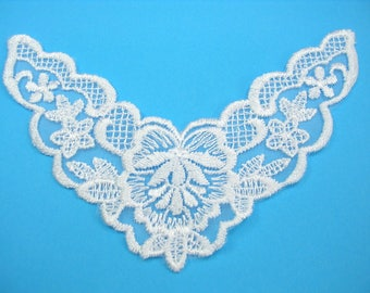 APPLIQUE lace fabric: collar flower 130 * 50mm