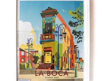 La Boca, Buenos Aires –Vintage Travel Poster