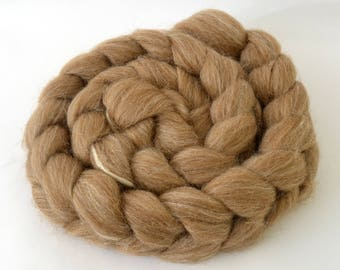 Manx Loaghtan and Silk, Wool Combed Top - Rare Conservation Breed - 100 grams