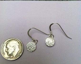 Dot Dangle Fine Silver Earrings FREE SHIPPING