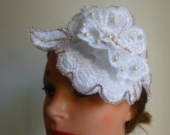 Bridal Fascinator Large flower headpiece Wedding/Races