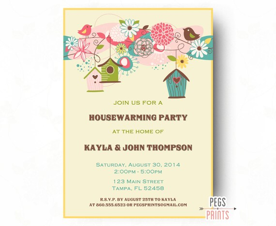 house warming invites