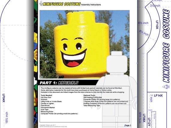 Tutorial: LEGO head. Minifigure costume. DIY patterns &