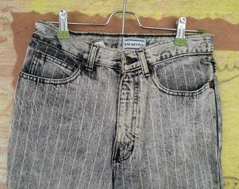 80s Conductor Jeans Size 2 • Vintage Acid Washed Jeans • Vintage Denim • Palmettos Jeans • Zippers on Pant Legs • 24 Inch Waist Jeans