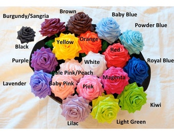Paper Flowers Bouquet - 1 Dozen Short-stem Custom Handmade  - Choose Your Colors