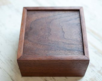 Walnut Wooden Box, Olde Timber Workshop, Reclaimed Lumber, Wooden Photo Box, Walnut Jewelry Box, Handcrafted Wooden Box Set
