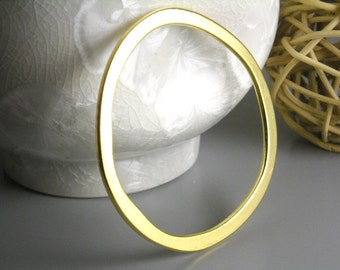 LINK-GOLD-53MM - Large 53mm Gold Plated Circle Links...2 pcs