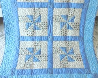 Patchwork baby quilt
