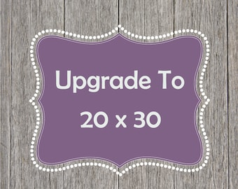 Size Upgrade To 20 x 30 (From 11 x 14)