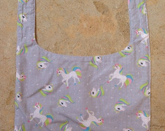 Bib with Terry honeycomb tie unicorns collection