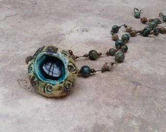 hand made necklace that made of real stones