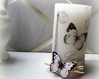 Candle deco romantic Butterfly 13 cm