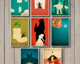Pick any six Disney 11x17 poster prints from my shop for 55 dollars