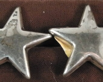 "vintage STAR shape Sterling Silver 925 Handmade, Retro ,Rock,Punk 1.18"""