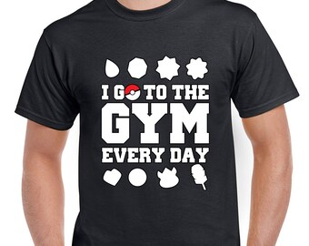 Pokemon Go, I Go To The Gym Everyday Men's T-Shirt
