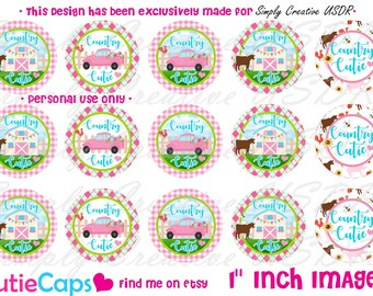 1 inch Country Cutie Bottlecap Image