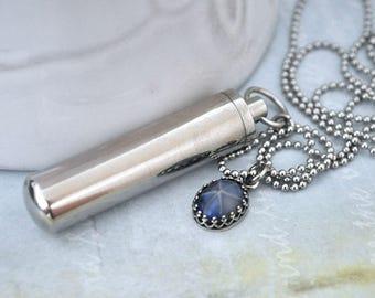 SECRET MESSAGE BOTTLE, tube container necklace, vintage pink opal necklace, perfume bottle locket, pill box container,