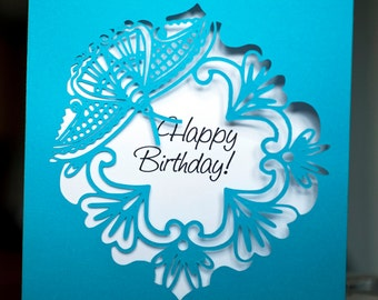Birthday silhouette card original design