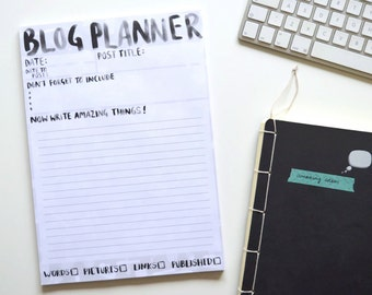 A4 Blog Planner