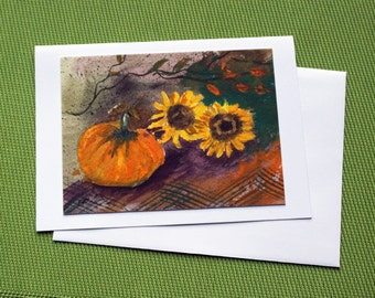 Harvest I - Watercolor Greeting Card