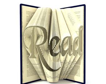 Book folding pattern - READ - 244 folds + Tutorial with Simple pattern - Heart - WO0401