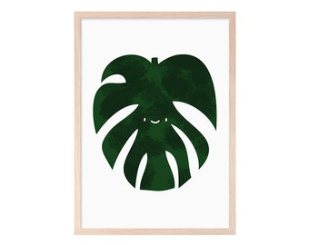 Tropical leaf. Monstera. Adam's rib. Blade, infant, printable, kids