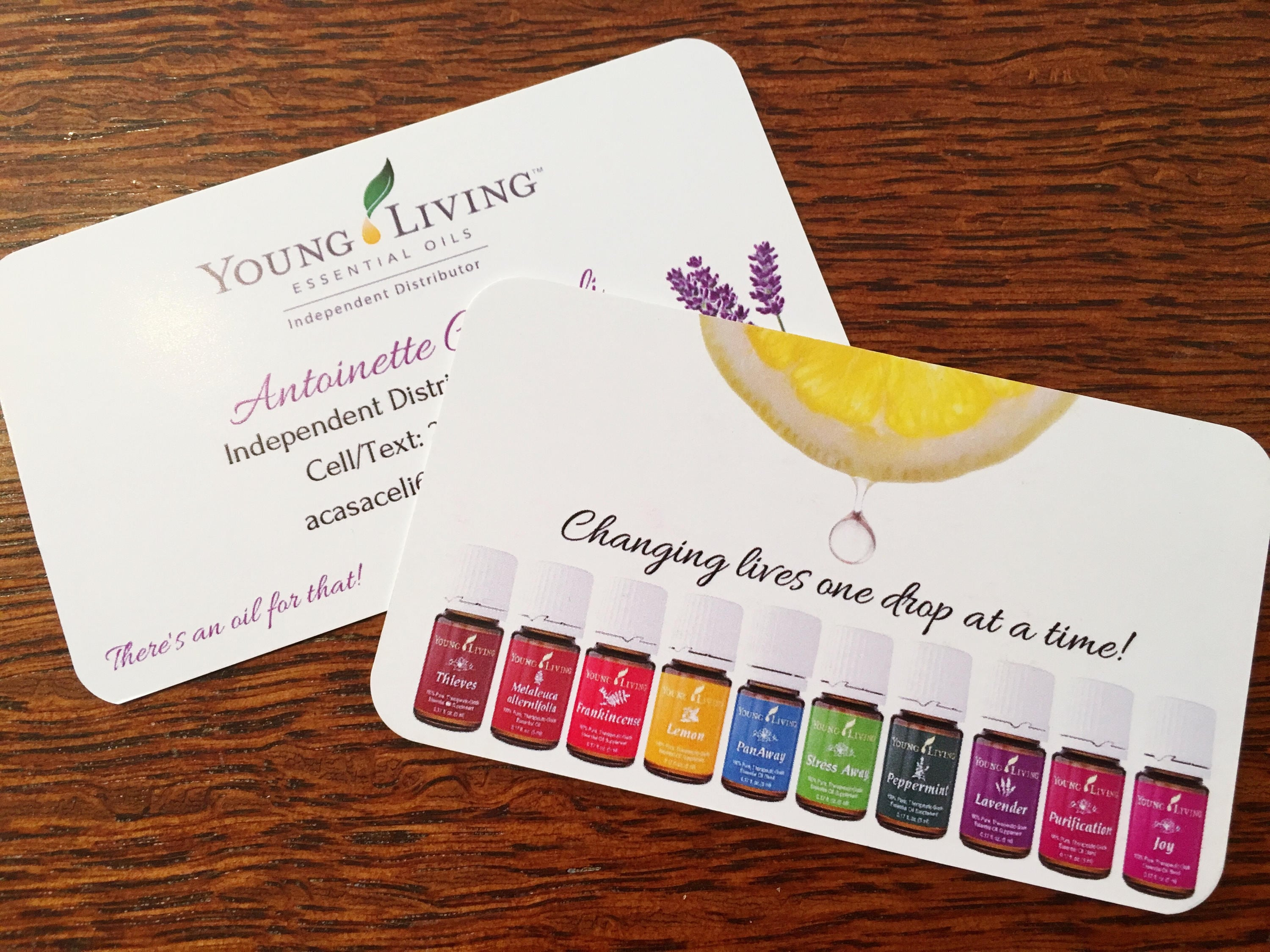 Essential Oil Business Card Template for Independent
