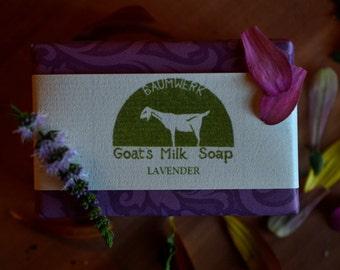 Lavender Goat's Milk Soap, essential oil, 3oz bar