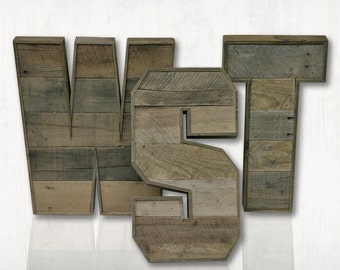 Pallet Letters. A to Z. Rustic Letters. RusTank Marquee Letters