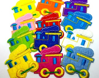 x 1 patch - Train Locomotive - color choice - sewing Crochet knitting