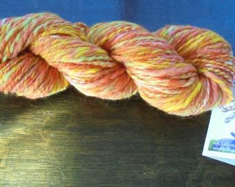 GELATO Soft Handspun Yarn, Thick and Thin Yarn, 2-ply Handspun Yarn, Squishy Yarn, Merino Yarn, Silk Yarn, Worsted-Weight Handspun, Wool